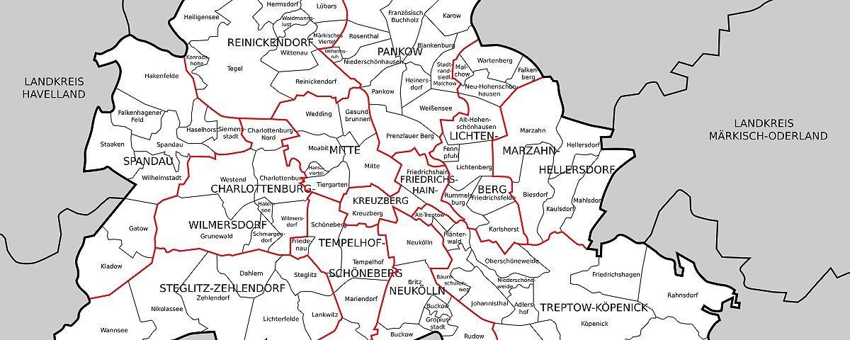 Die Berliner Ortsteile Stadtteile Von Berlin