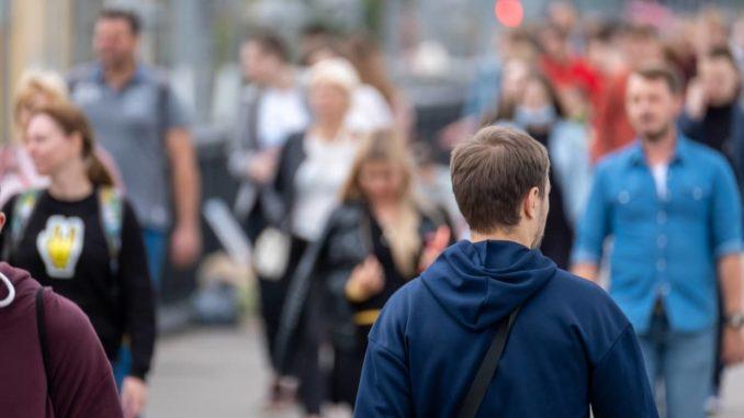 Fußgänger in Berlin