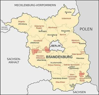 karte brandenburg und umgebung Landkarte Berlin / Brandenburg