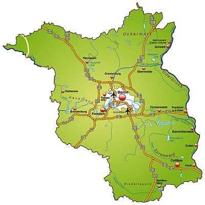 landkarte brandenburg Landkarte Berlin / Brandenburg landkarte brandenburg